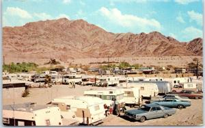 Niland, California Postcard BASHFORD'S HOT MINERAL SPA Trailer Park 1960s Unused