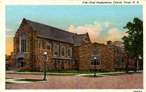 Fargo, North Dakota - The First Presbyterian Church - c1920