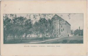 1908 EMPORIA Kansas Kans Ks Postcard STATE NORMAL SCHOOL