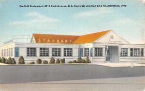Ashtabula Ohio Garfield Restaurant Street View Antique Postcard K45239