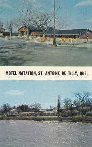 Exterior Street and Waterfront View, Motel Natation, St. Antoine de Tilly, Co...