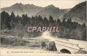 Old Postcard Surroundings Mont Dore Road and the Puy de Sancy