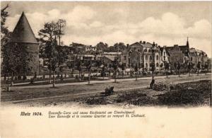 CPA Metz 1904 Camouffe-Turn und neues Stadtviertel am Theobaldswall (393328)