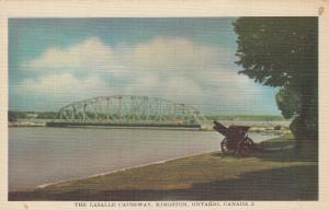 KINGSTON, Ontario, 1930-40s ; The LaSalle Causeway, Bridge, Canon