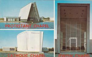 The Tri-Faith Chapels, Protestant Chapel, Catholic Chapel, JEWISH Chapel, 194...