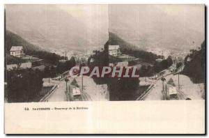 Stereoscopic Card - Cauterets - Tramway of Raillere - Old Postcard