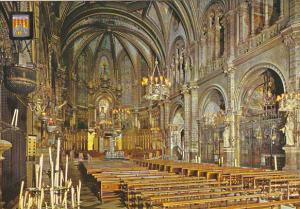Spain Montserrat Interior d ela Basilica