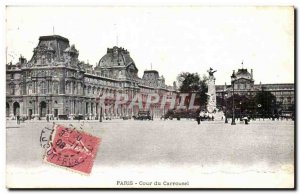 Paris 1 - Court of the Carrousel Old Postcard