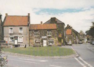 Osmotherley Junction Signpost & Shops 1981 Postcard