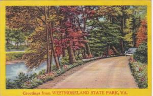 Virginia Greetings From Westmoreland State Park