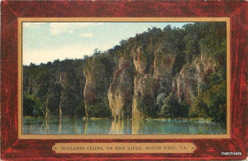 C-1910 Bullards Cliffs New River South West Virginia Frame like Souvenir 13168