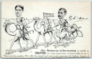 KAR-A-VAN COFFEE Advertising Postcard Our Business is Increasing Camels c1900s