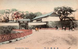 Japan - Sakurada Gate Tokyo Hand Colored 01.52