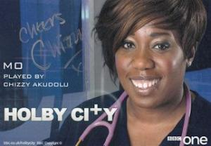 Mo Chizzy Akudolu Holby City Hand Signed Cast Card Photo