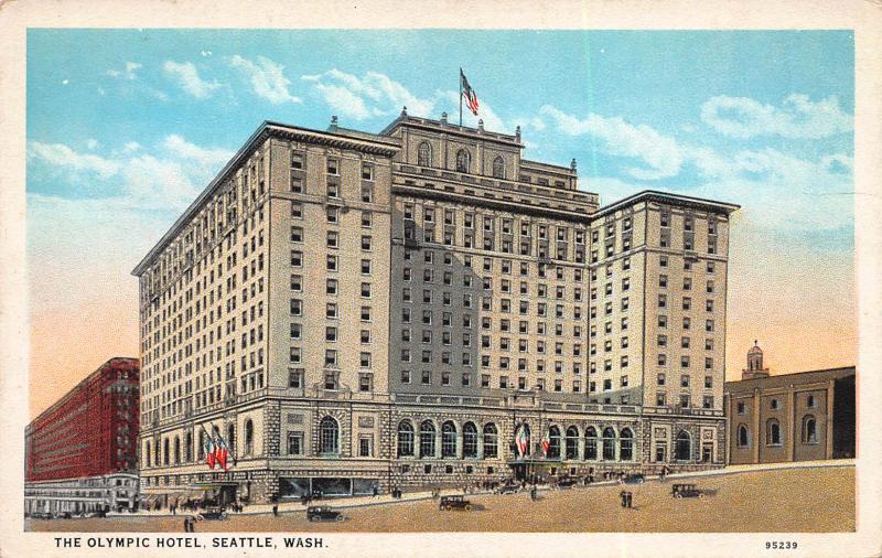 The Olympic Hotel, Seattle, Washington, Early Postcard, Unused