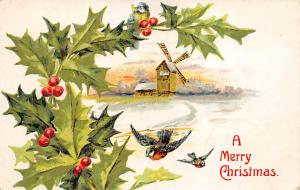 Christmas Postcard Postal used unknown