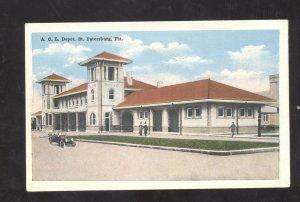 ST. PETERSBURG FLORIDA ACL RAILROAD DEPOT TRAIN STATION VINTAGE POSTCARD