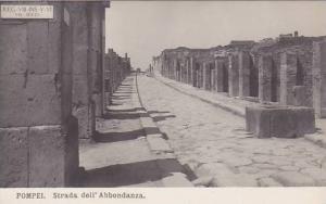 RP; POMPEI, Strada dell' Abbondanza, Campania, Italy,  00-10s
