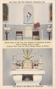 Indiana Vincennes The Crypt & Original Altar The Old Cathedral BIshop Brute S...