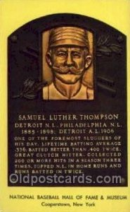 Samuel Luther Thompson Baseball Hall of Fame Card, Old Vintage Antique Postca...