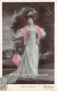 Reutlinger Photography Post Card Reutlinger Photography Post Card Cecile Sorel