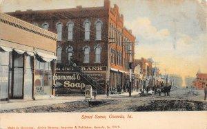 LP96   Osceola Iowa Postcard Street Scene