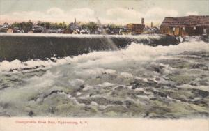 Oswegatchie River Dam, Ogdensburg, New York, 1907 PU