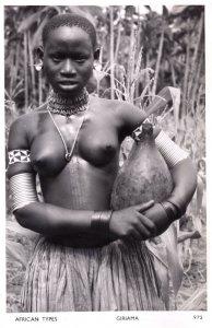 Giriama Kenya African Woman Real Photo Old Postcard