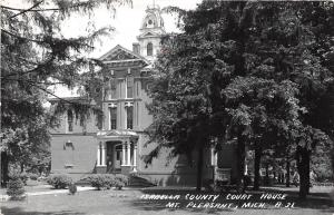 D53/ Mt Pleasant Michigan Mi RPPC Postcard Isabella County Court House 6