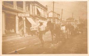 Japan? Street Scene Liqour Store Sake Sign Real Photo Vintage Postcard JD933797