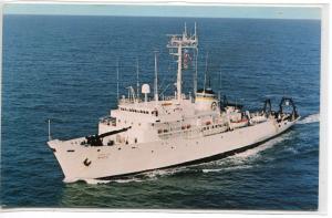 USNS Wilkes T-AGS 33 Oceanography Survey US Navy Ship postcard