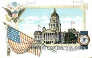 Springfield, Illinois, IL State Capital USA Writing on back light wear close ...