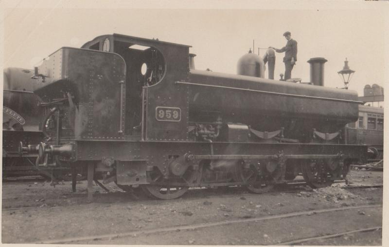 GRW 959 Train Man Climbing On Roof Antique Real Photo Postcard