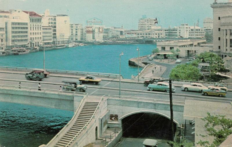 MANILA, Philippines, 40-60s; Skyline, Bridge