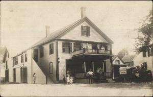 Store/Home Grocery Wagon Cochesett MA Cancel 1908 Real Photo Postcard