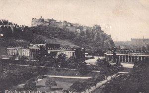 EDINBURGH, Scotland, 1900-1910s; Edinburgh Castle From Scott Monument