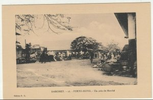 Benin; Dahomey, No 16, Porto Novo, A Corner Of The Market PPC, By ER, Unused