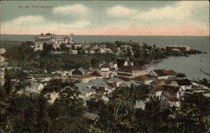 Port Antonio Jamaica Birdseye in Color #46 c1910 Postcard