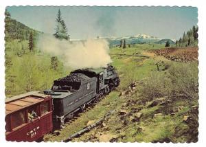 Cumbres Toltec Scenic Railroad Passenger Train RR Postcard