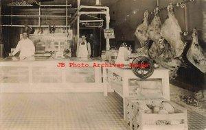 ID, Twin Falls, Idaho, RPPC, Twin Falls Meat Company Butcher Shop Interior,Photo