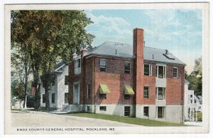 Rockland, Me, Knox County General Hospital