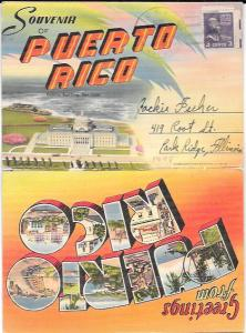Greetings from Puerto Rico.  Souvenir Folder. 1948