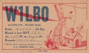 QSL ; Malden , Mass. , 1938