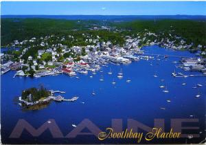 (2 cards) Boothbay Harbor - Carousel Wharf ME Maine pm 2006