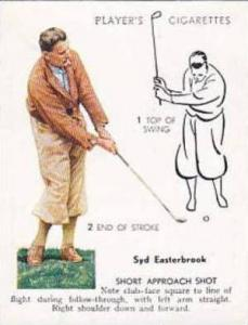 Player Vintage Cigarette Card Golf 1939 No 15 Short Approach Shot Syd Easterb...