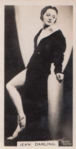 Jean Garling Hollywood Actress Rare Real Photo Cigarette Card