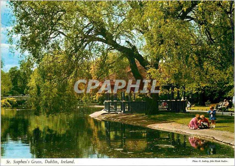 Modern Postcard Stephen's Green Dublin Ireland
