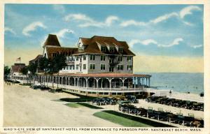MA - Nantasket Beach. Nantasket Hotel from Entrance to Paragon Park