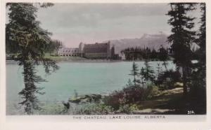 Tinted RPPC Chateau Hotel on Lake Louise AB Alberta Canada