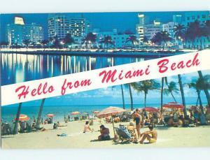 Pre-1980 BEACH SCENE Miami Beach Florida FL G5915